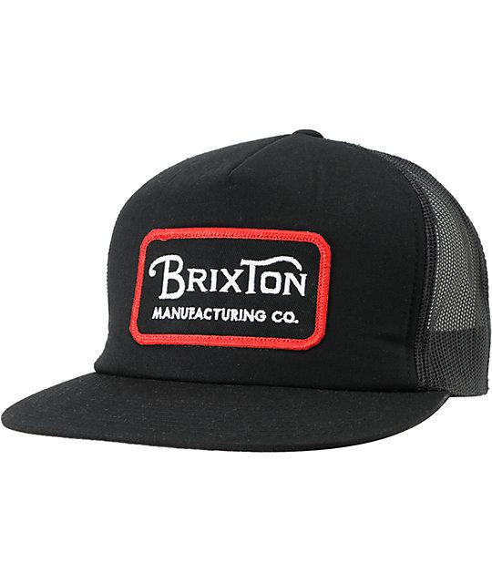 Brixton Route III Black Trucker Hat