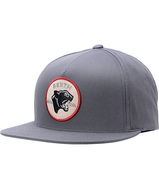 Brixton Seeker Charcoal Snapback Hat