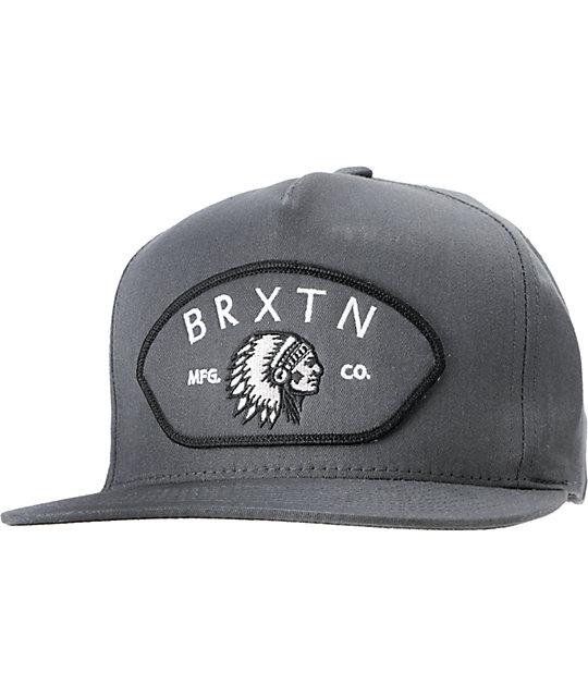 Brixton Station II Charcoal Snapback Hat