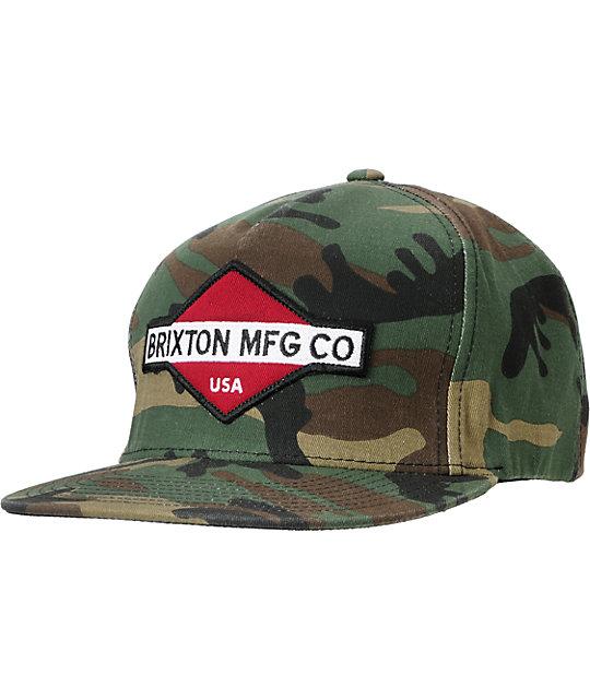 Brixton Station III Camo Snapback Hat