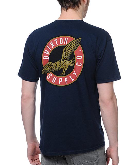 Brixton Stride Navy T-Shirt