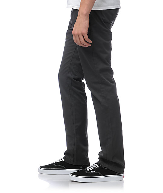 Brixton Toil Charcoal Slim Chino Pants