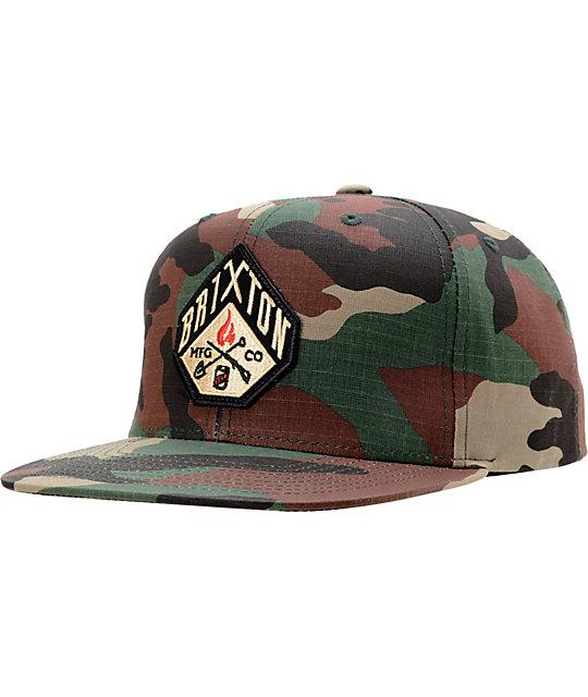 Brixton Walsh Camo Snapback Hat