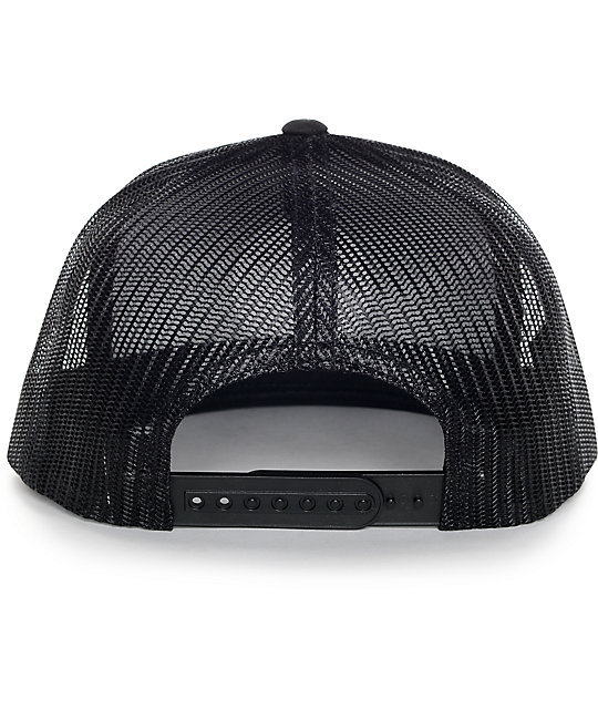 Brixton Wheeler Black Trucker Hat