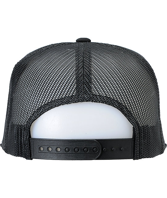Brixton Wheeler III Black Trucker Hat