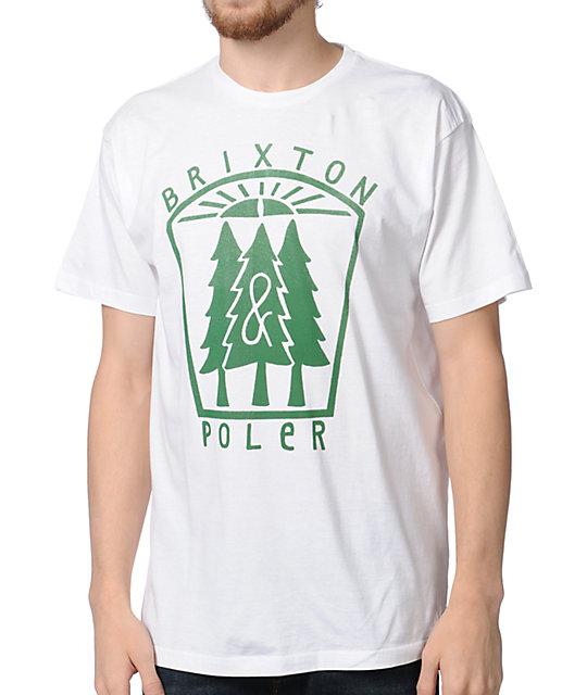 Brixton x Poler Pine White T-Shirt