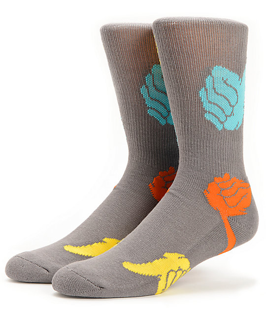 Bro Style Thumbs Up Charcoal Crew Socks