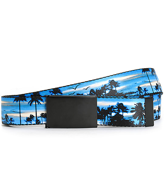 Buckle Down Blue Sunset Web Belt