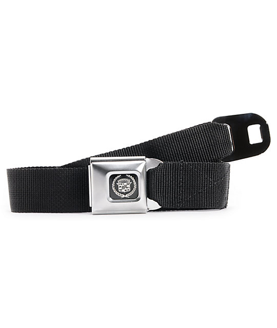 Buckle Down Cadillac Black Seatbelt Belt