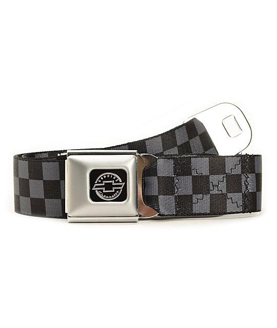 Buckle Down Checker Chevy Seatbelt Belt