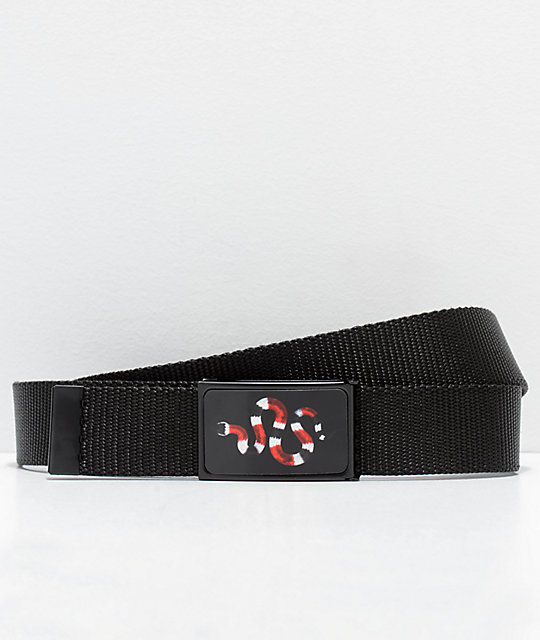 Buckle Down Snake Black Web Belt by Buckle Down