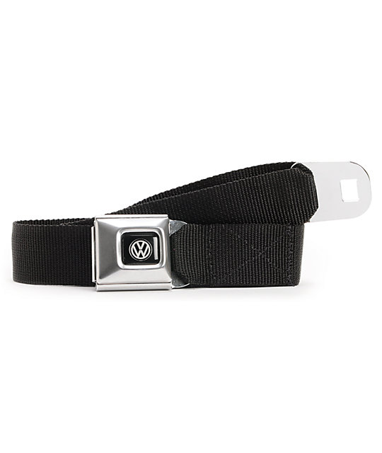 Buckle Down Volkswagen Black Seatbelt Belt