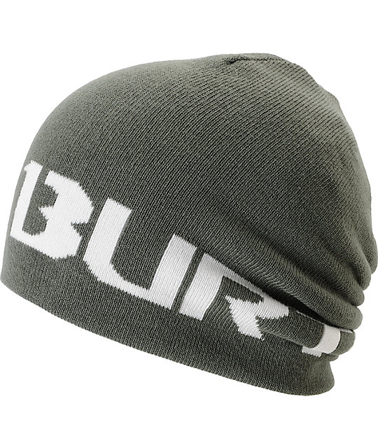 Burton 2013 Billboard Grey & White Reversible Beanie