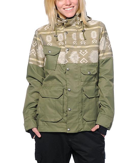 Burton Aurora Green 10K Snowboard Jacket