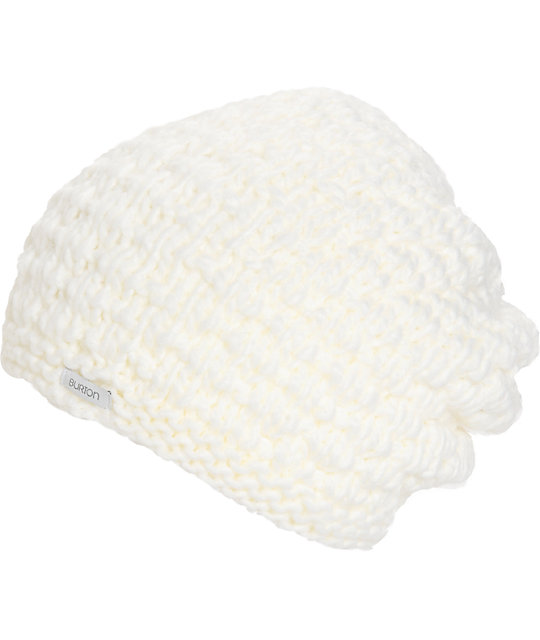 Burton Big Bertha White Beanie