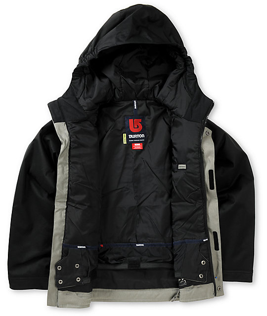 Burton Boys Black & Grey Denim Snowboard Jacket 2013