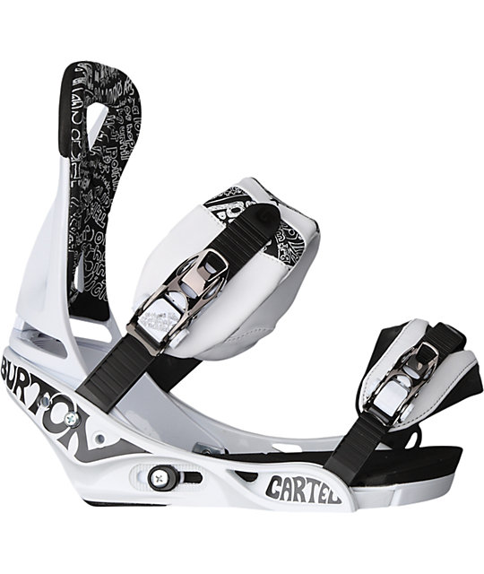 Burton Cartel White Snowboard Bindings