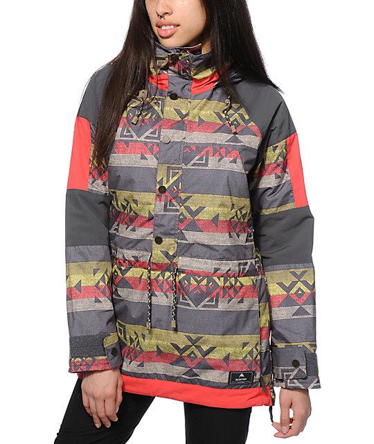 Burton Cinder Tribal Anorak 10K Snowboard Jacket
