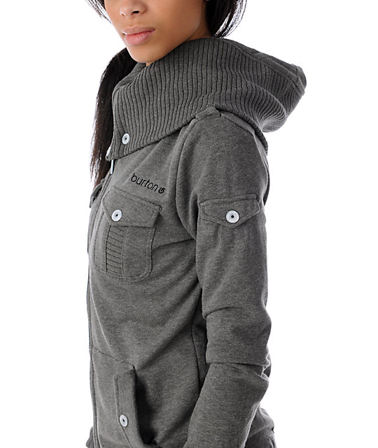 Burton Constellation Premium Grey Full Zip Up Hoodie