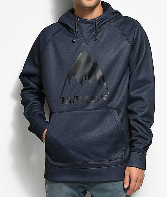 Burton Crown Bonded Tech Fleece Mood Indigo Hoodie