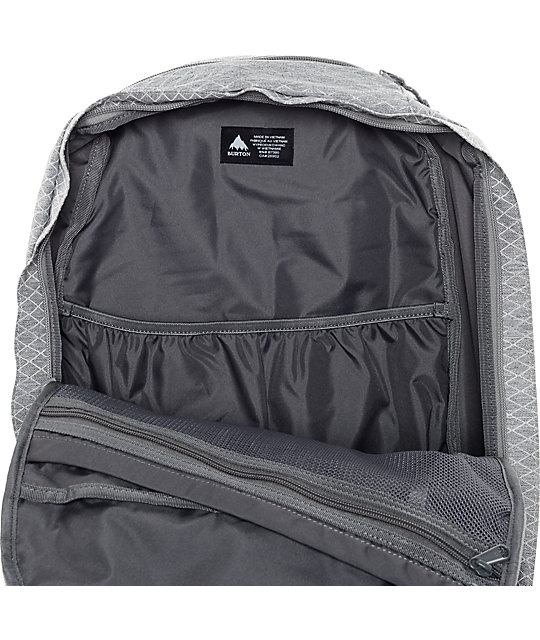 Burton Curbshank Heather Grey Diamond Ripstop 26L Backpack
