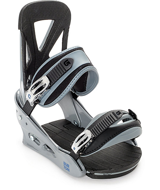 Burton Custom Grey Snowboard Bindings