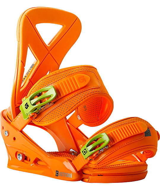 Burton Custom Orange ReFlex Snowboard Bindings