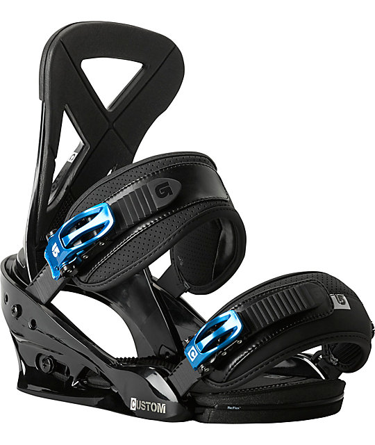 Burton Custom ReFlex Black Snowboard Bindings