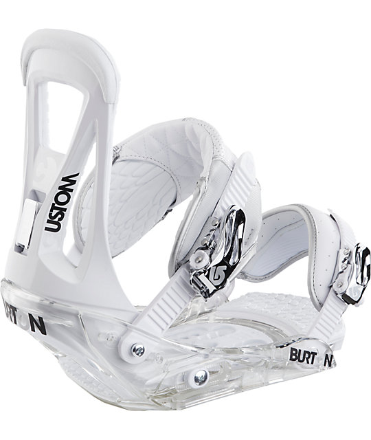 Burton Custom White Snowboard Bindings