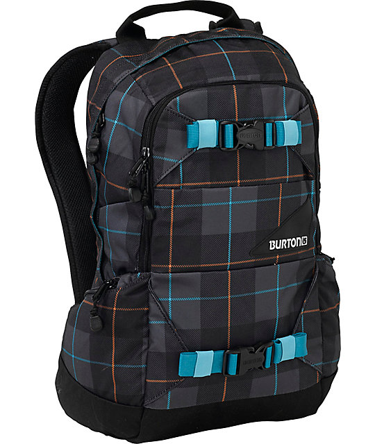 Burton Day Hiker Blotto Black Plaid Backpack
