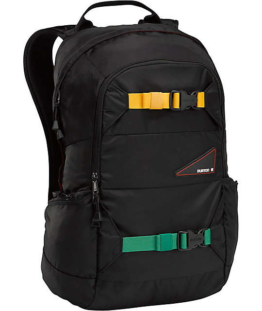 Burton Day Hiker Bombaclot Black & Rasta Laptop Backpack
