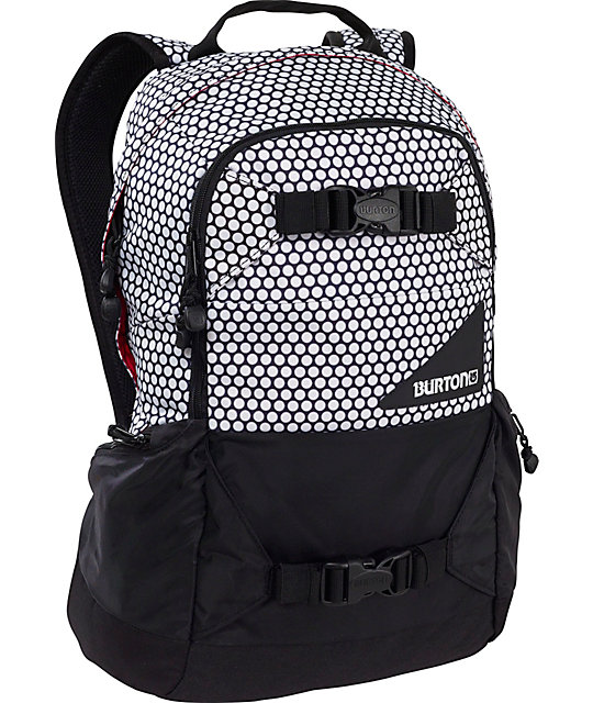 Burton Day Hiker White Dot Board Backpack