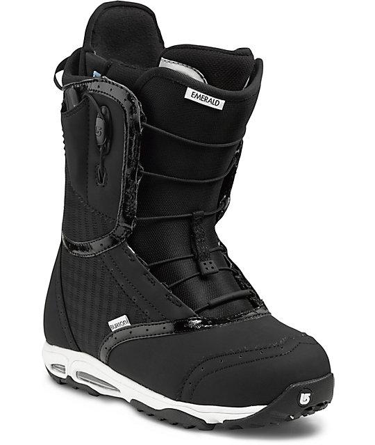 Burton Emerald Black & White Womens Snowboard Boots