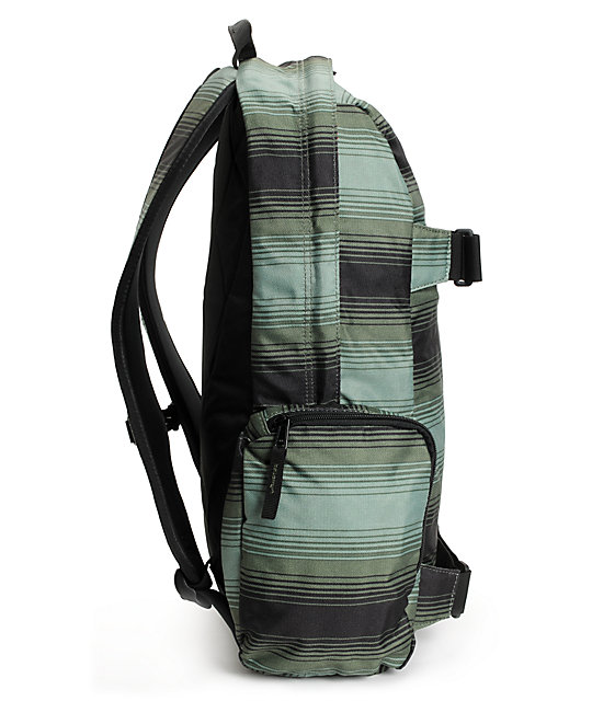Burton Emphasis Green Ombre Stripe Skate Backpack