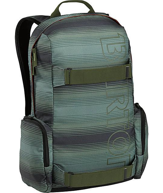 Burton Emphasis Green Ombre Stripe Skate Backpack
