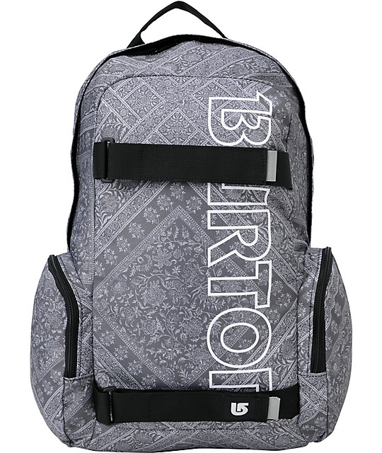 Burton Emphasis Yasgur Black & White Skate Backpack