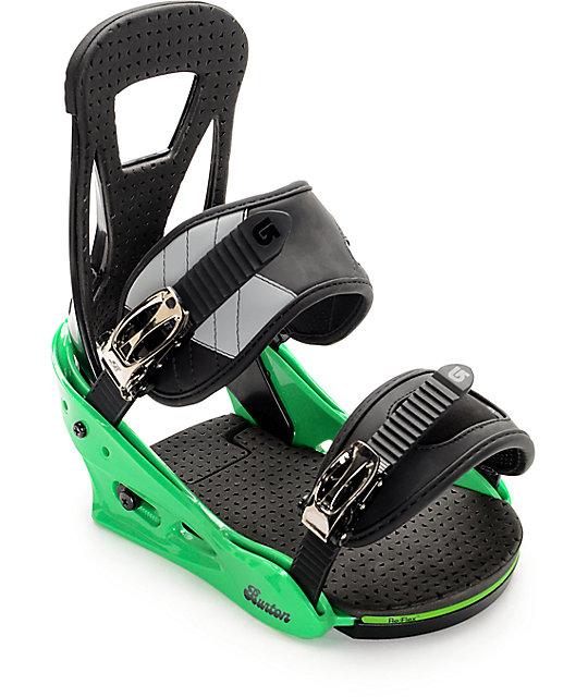 Burton Freestyle Green Snowboard Bindings