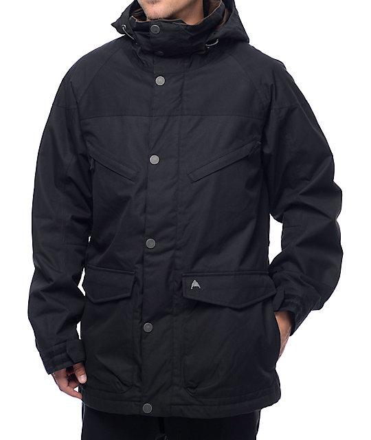 Burton Frontier Wax Black 10k Snowboard Jacket