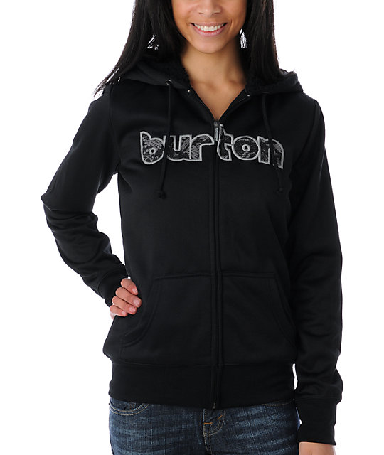 Burton Grace Sherpa Black Tech Fleece Jacket