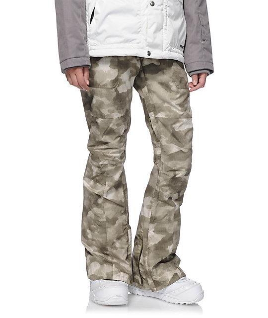 Burton Indulgence Green Camo 10K Snowboard Pants