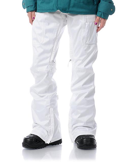 Burton Indulgence White 10K Snowboard Pants