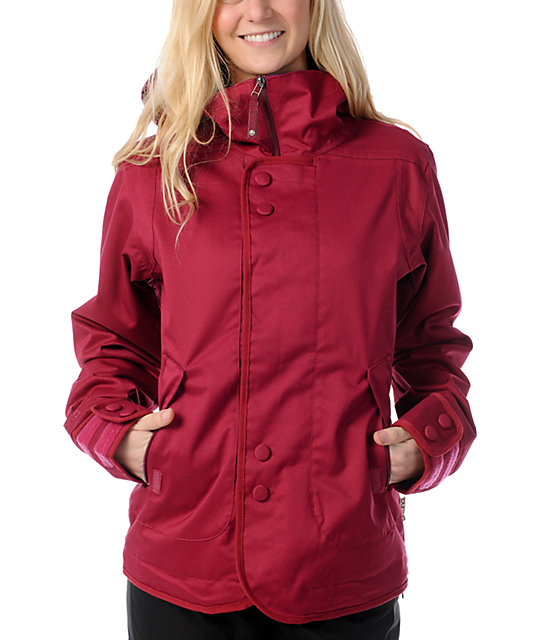 Burton Jet Set 10K Red Snowboard Jacket