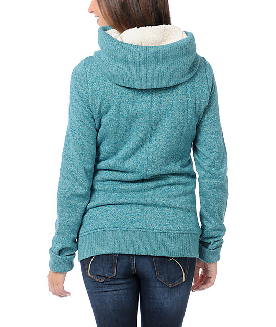 Burton Lovell Heather Spruce Green Snow Hoodie