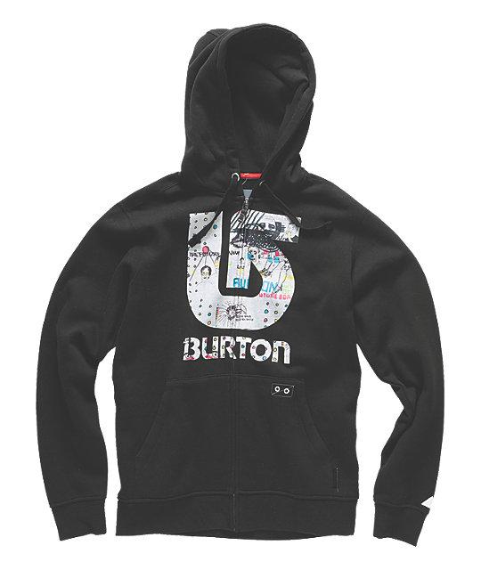 Burton Manic Black Tech Fleece Jacket