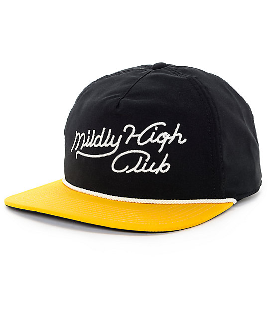 Burton Mildly High True Black Snapback Hat