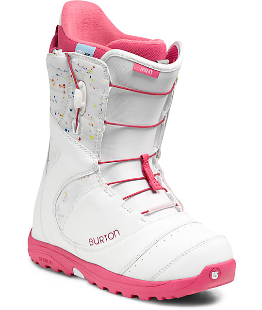 Burton Mint White & Pink Womens Snowboard Boots