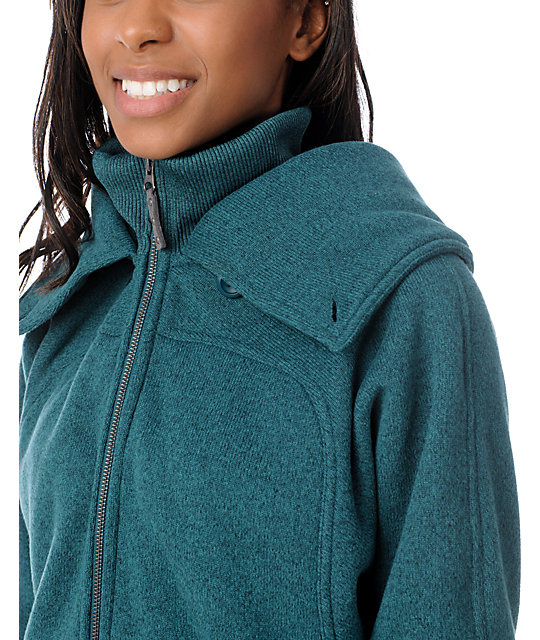 Burton Minx Spruce Green Tech Fleece Jacket