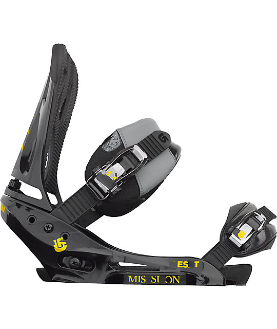 Burton Mission EST Black Mens Snowboard Bindings