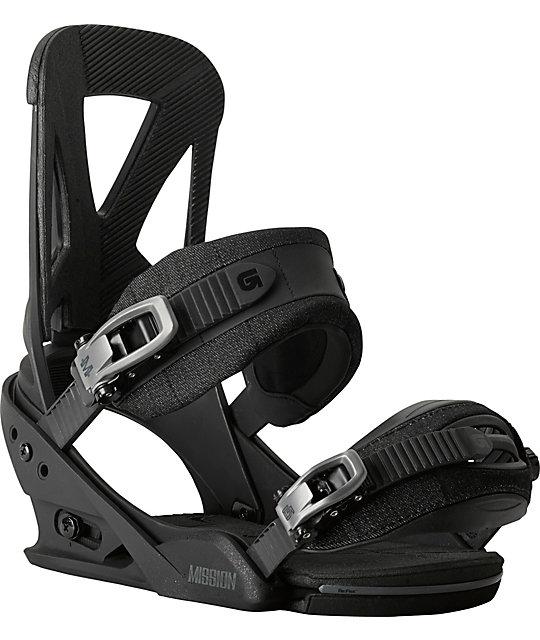 Burton Mission ReFlex Black Snowboard Bindings