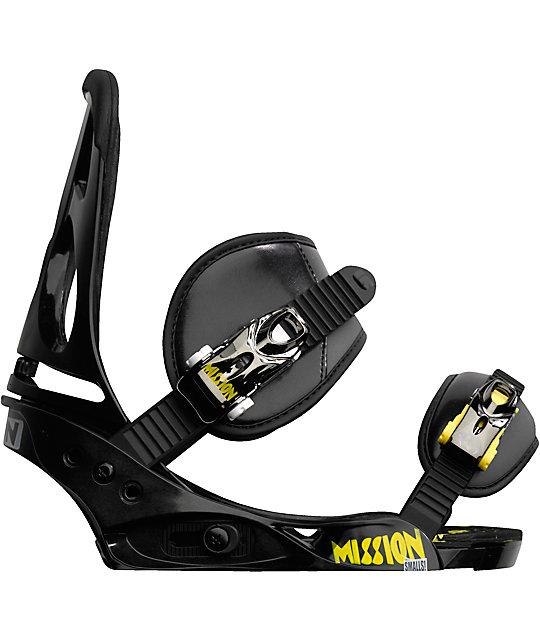 Burton Mission Smalls Kids Black Snowboard Bindings